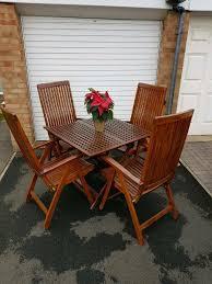 solid wood garden furniture set