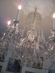 6 arm cut glass victorian chandelier ca 1860
