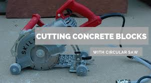 how to cut concrete blocks with