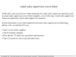 Example Of Cover Letter For Retail Job Retail Sales Assistant Cover Letter Retail Sales Manager Cover
