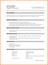 Ideas Collection Resume Format For Freshers Bcom Graduate Download