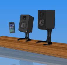 desktop speaker stands for micca speakers 3 8 laser cut powder coated steel