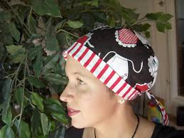 Scrub Cap Pattern Stunning Ladies Tieback Surgical Scrub Hat Chemo Hat Sewing Pattern Other