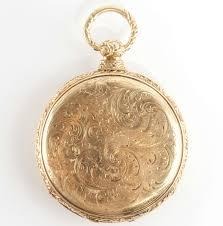 description stunning vintage 1870 s 18k yellow gold hand engraved pocket watch