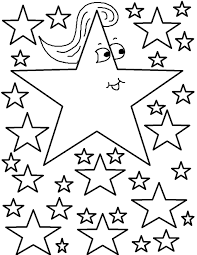 printable star free printable star coloring pages for kids with glum me