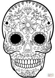 Day of the dead skull. 42 Outstanding Candy Skull Coloring Sheet Picture Inspirations Axialentertainment