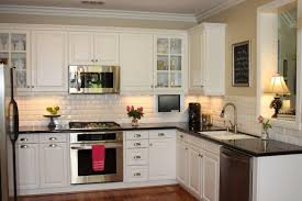examples good exciting colonial cream granite space remodel off white kitchen cabinets with dark floors interior
