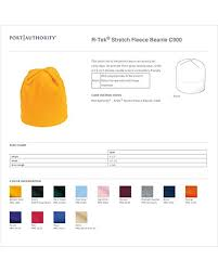 Port Authority Color Chart Port Authority Perfect Warm Fleece Beanie Midnight Heather One Size
