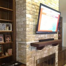 how to hide tv wires over brick fireplace install tv over fireplace hide wires