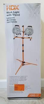 Hdx Dual Work Light Hdx 1000 Watt Halogen Twin Head Tripod Work Light 637449
