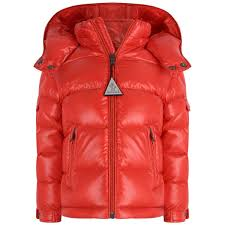 Moncler Baby Boys Red Down Padded Maya Coat