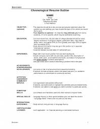 How To Write A Chronological Resume Best Functional Examples