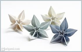 Paper Folded Flower Carambola Flowers Origami Flowers By Carmen Sprung Go