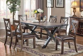 Industrial style furniture Oak Furniture Stores Los Angeles Voyager Industrial Style Dining Room Furniture