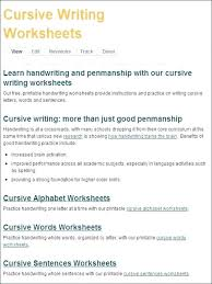 Remarkable Free Cursive Handwriting Worksheets About Printing And Of