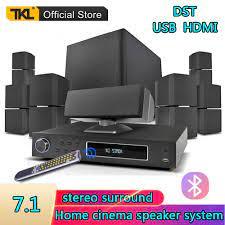 TKL 7.1 kanal ev sinema sistemi USB Bluetooth 3D surround ses Subwoofer  hoparlör sistemi|Combination Speakers