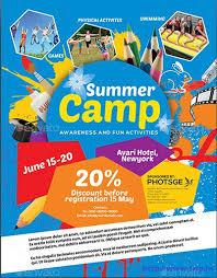 Sample Summer Camp Flyer Summer Camp Brochure Template Free Download