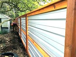 wonderful corrugated steel fence corrugated metal privacy fence regarding corrugated metal fence cost plans corrugated metal
