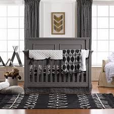black and white elephant baby bedding modern boy