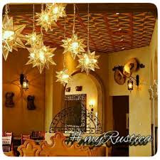 mexican punched tin star lamps