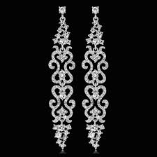 long diamante rhinestone crystal drop dangle chandelier earrings wedding uk