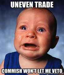 Uneven trade Commish won't let me veto - Crying Baby | Meme Generator via Relatably.com