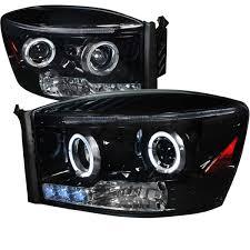 Halo Lights For 2006 Dodge Ram Spec D Tuning 2lhp Ram06g Tm Dodge Ram Halo Projector Headlight Gloss Black Housing Smoke Lens 2006 2008