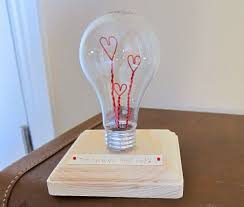 handmade valentines day gift ideas for her diy repurposed old bulb made for gift