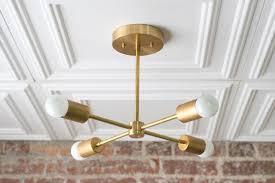 gold sputnik light geometric chandelier