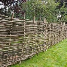 image to enlarge hazel hurdle decorative woven garden fencing panel 6ft x 4ft 1 8m x 1 2m