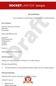 writing a job description template. Create Print Free Job Description Template Job Spec