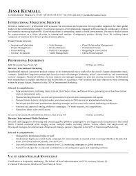 ... Marketing Director Resume Examples 15 International ...