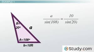solving real world problems using the law of sines lesson transcript study com