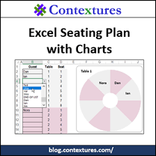 Wedding Seating Arrangement Tool Excel Seating Plan With Charts Contextures Blog