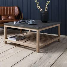 hudson living brooklyn coffee table square beachwood oak and concrete square coffee table 1024
