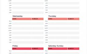 Weekly To Do Calendar Template Weekly Calendar Templates Archives Exceltemplate