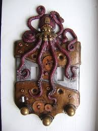 Decorative Light Switch Plates Steampunk Octopus Double Light Switch Cover By Charleswainman On