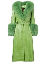 saks potts long belted coat