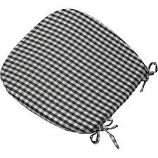 dining room gingham check tie on seat pad 16 dining room agreeable photo chair cushions