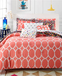 Martha Stewart Whim Collection Coral Mirror Mirror 5-Pc Comforter Set - Bed  in a