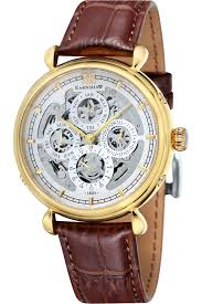 8 top men s skeleton watches for men best selling most popular thomas earnshaw grand calendar men s automatic watch white dial analogue display and brown leather strap