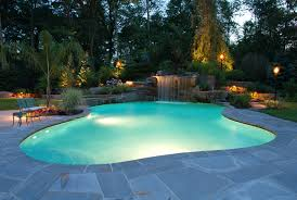 Simple Backyard Pools Designs Contemporary Home With Rectangular