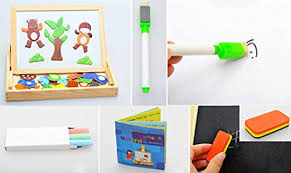 Tavolo Da Disegno Amazon : Minetom bambino giocattoli in legno tavolo da disegno educativo