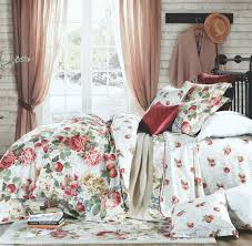 french country garden fruits meadow flowers duvet cover set eikei throughout cottage bedding