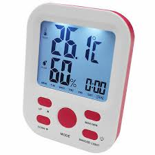 Electronic Digital <b>Thermometer Hygrometer</b> Alarm Clock Lcd Display ...