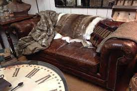 leather couch decorating