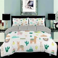 bedding set 3d alpaca queen size lovely