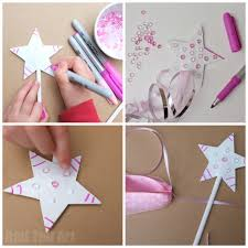 princess party crafts upcycled fairy wand idea
