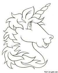 print out unicorn head coloring pages for kids printable coloring pages for kids