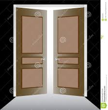 open double doors. Double Door With Molding Open Doors